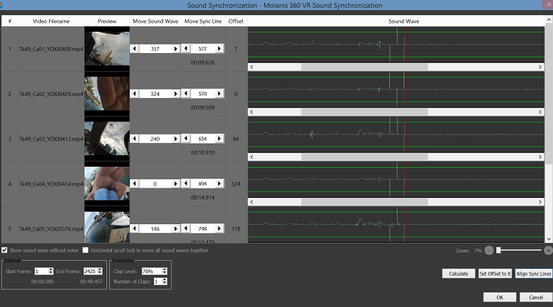 Sound Sync for Video Stitching